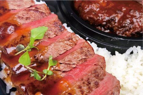 神戸牛ハンバーグと特選フィレステーキ