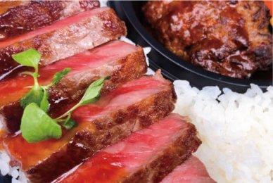 神戸牛ハンバーグと国産サーロインステーキ